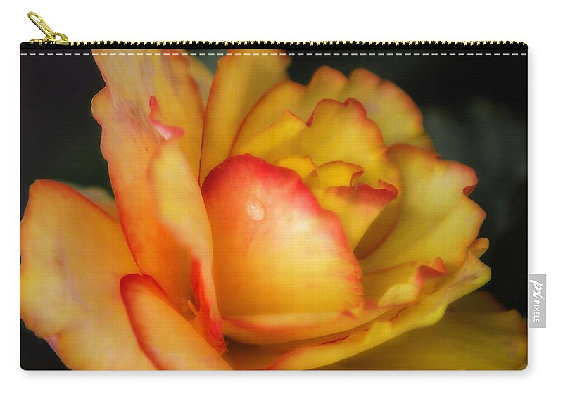 Flower Carry-all Pouch featuring the photograph Missing You 7571 by Karen Celella