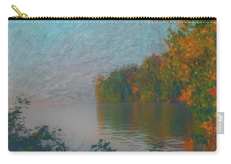 Mississippi River Carry-all Pouch featuring the digital art Mississippi Rivers Edge by Sandra Johnson