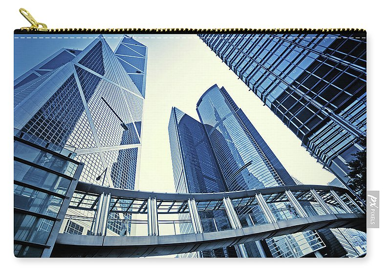 Corporate Business Carry-all Pouch featuring the photograph Modern Office Buildings by Nikada