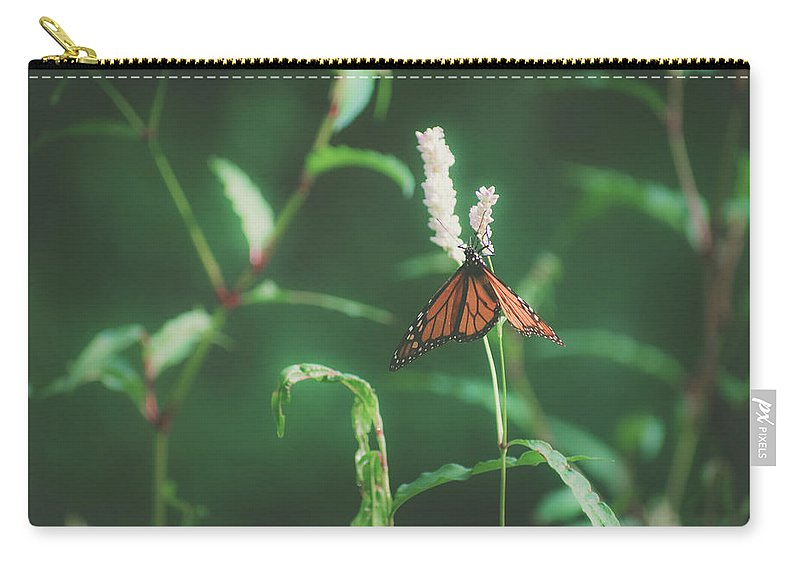 Butterfly Carry-all Pouch featuring the photograph Monarch Butterfly by Valerie Kingston