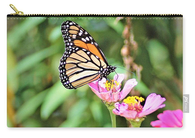 Monarch Carry-all Pouch featuring the photograph Monarch's Stance... by Kinza Images