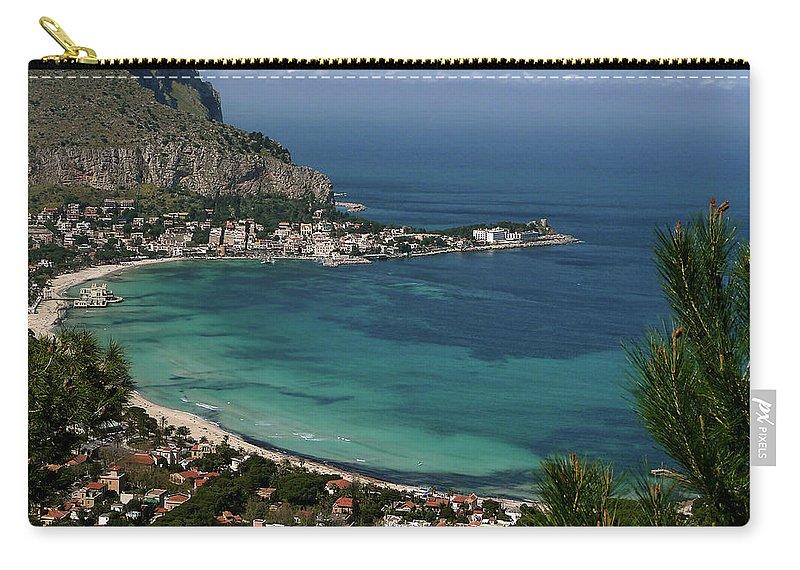 Scenics Carry-all Pouch featuring the photograph Mondello Mare E Cielo by Foto Pietro Columba