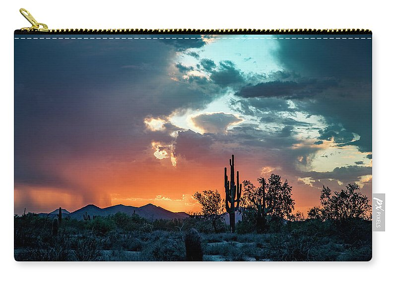 Arizona Carry-all Pouch featuring the photograph Monsoon Passing by Cathy Franklin