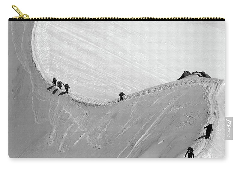 Scenics Carry-all Pouch featuring the photograph Mont Blanc by Yanis Ourabah