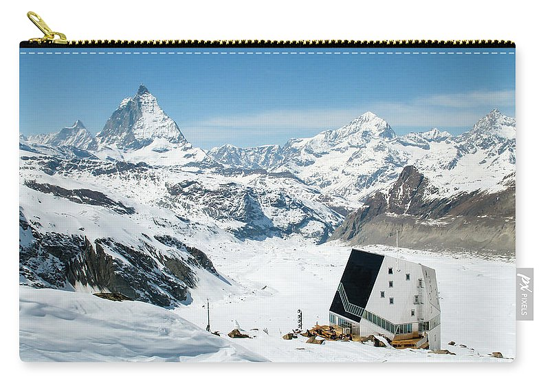 Snow Carry-all Pouch featuring the photograph Monte Rosa by DiFigiano Photography