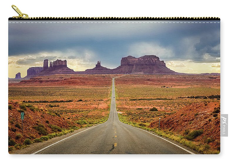 Scenics Carry-all Pouch featuring the photograph Monument Valley by Posnov