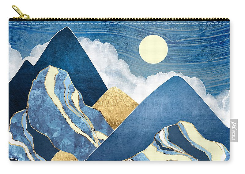 River Carry-all Pouch featuring the digital art Moon River by Spacefrog Designs