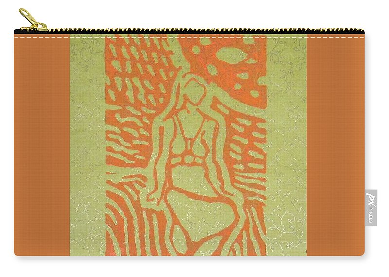 Female Figure Carry-all Pouch featuring the relief Moon Sitting by Bonnie Edmond