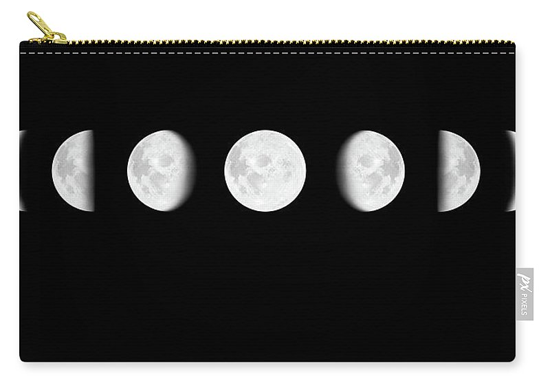 Sequential Series Carry-all Pouch featuring the photograph Moon Surface With Different Phases Xxxl by Cruphoto