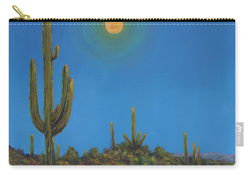 Arizona Carry-all Pouch featuring the painting Moonlight Serenade by Johnathan Harris