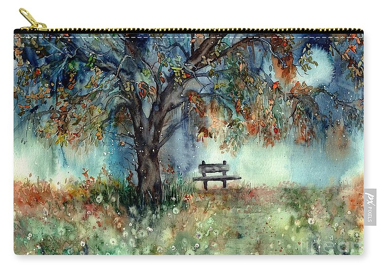 Moonlight Carry-all Pouch featuring the painting Moonlight Shadows by Suzann Sines
