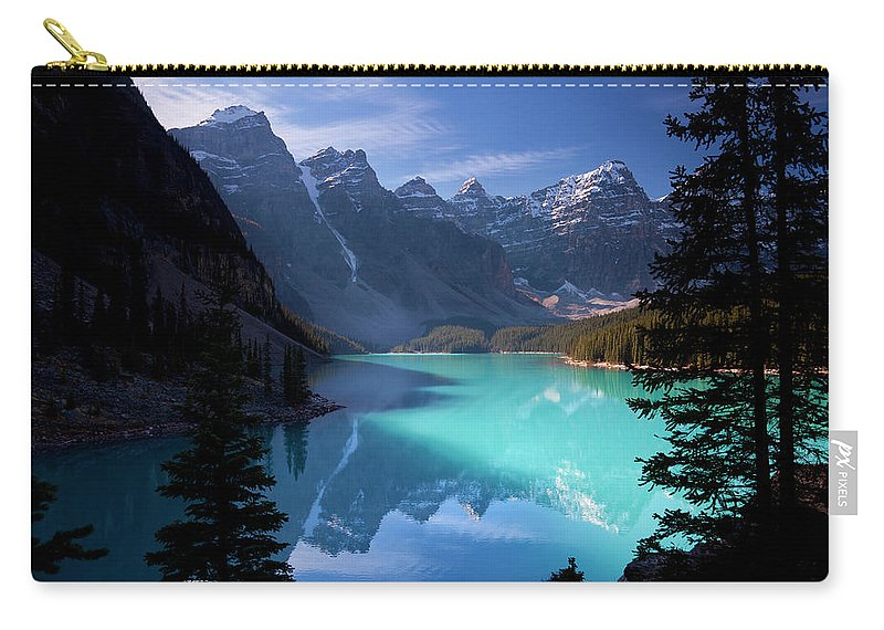 Extreme Terrain Carry-all Pouch featuring the photograph Moraine Lake, Banff National Park by Dan prat