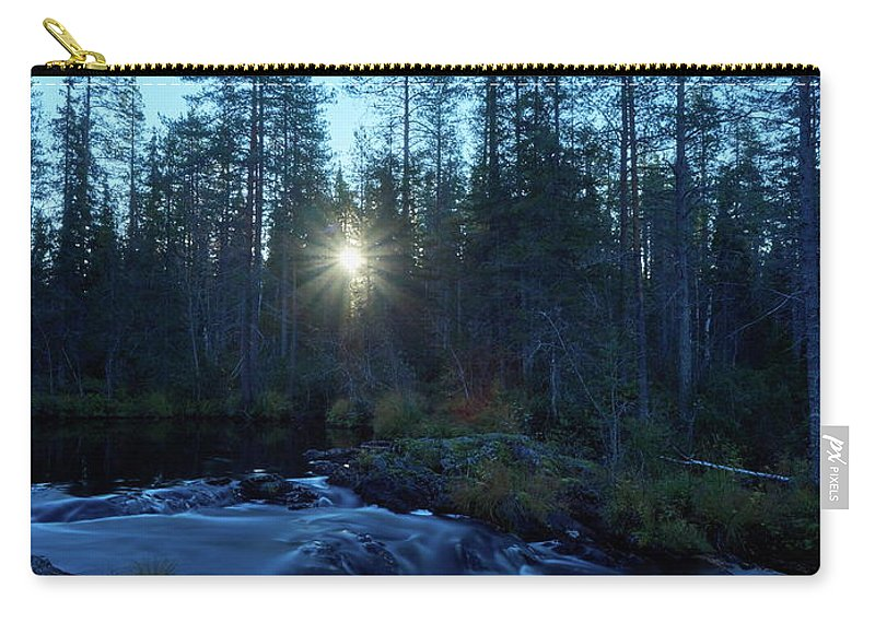 Finland Carry-all Pouch featuring the photograph Morning Has Broken At Hepokongas Waterfall by Jouko Lehto