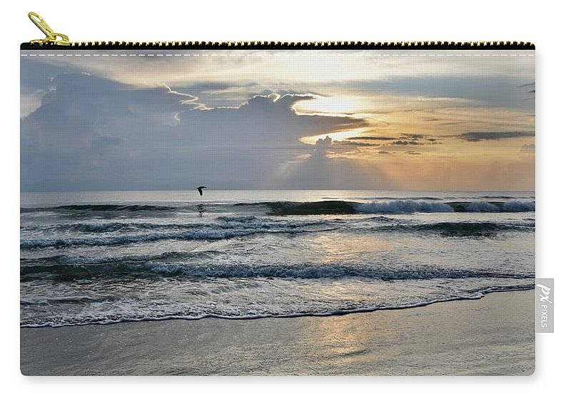 Ocean Sunrise Carry-all Pouch featuring the photograph Morning Light Shine Bright by Laurie Hein