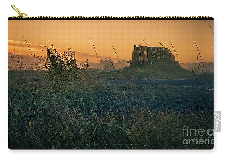 Lough Boora Carry-all Pouch featuring the photograph Morning Train by Jeremy Simpson