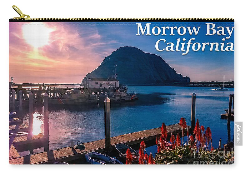 Morrow Bay Carry-all Pouch featuring the photograph Morrow Bay California by G Matthew Laughton