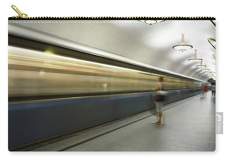 People Carry-all Pouch featuring the photograph Moscow Metro by Fmajor