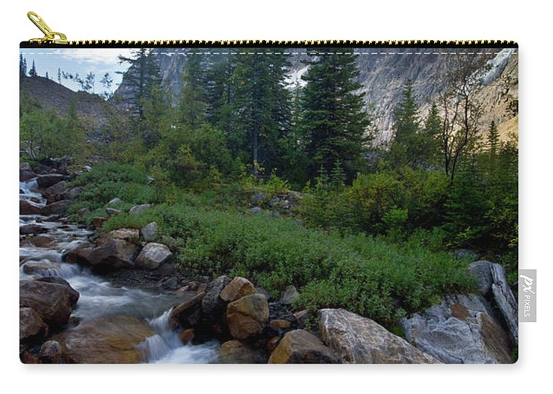 Tranquility Carry-all Pouch featuring the photograph Mount Edith Cavell by Visit Www.ronmiller.com