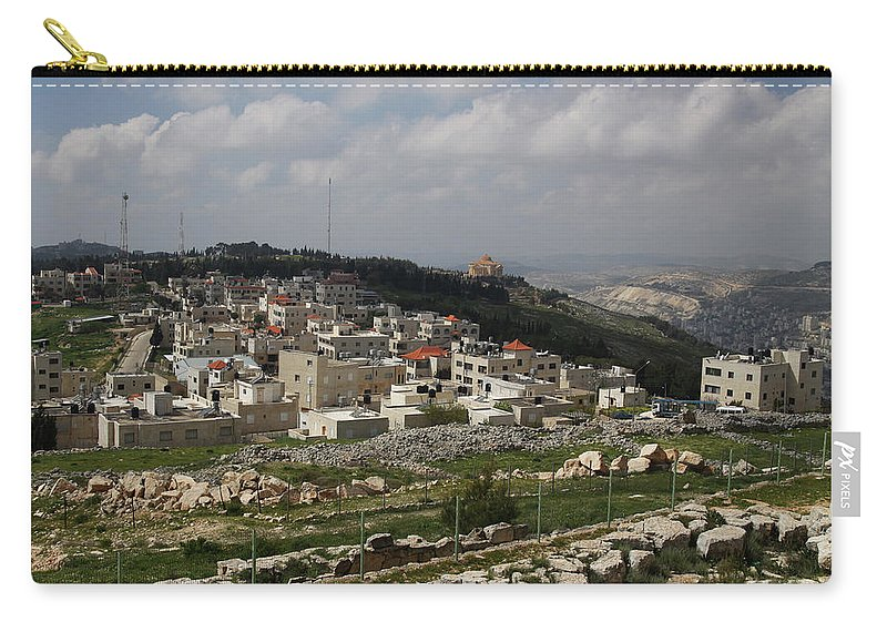 Tranquility Carry-all Pouch featuring the photograph Mount Gerizim, Samaritan Community by Gunter Hartnagel