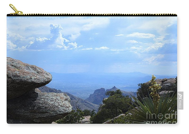 Mount Lemmon Carry-all Pouch featuring the photograph Mount Lemmon View by Suzanne Wilkinson