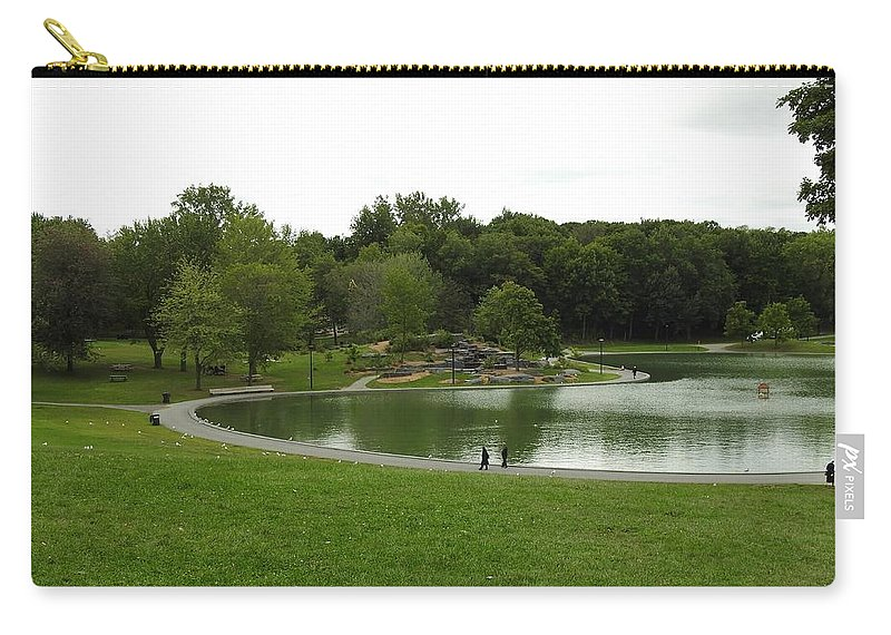 Mount Royale Parc Carry-all Pouch featuring the photograph Mount Royale Parc by David Gorman