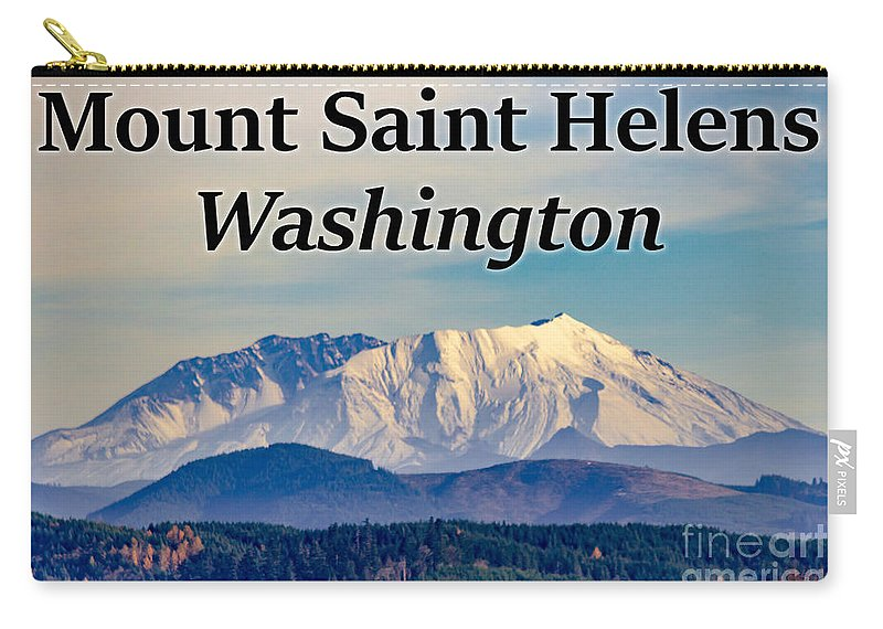 Mount Saint Helens Carry-all Pouch featuring the photograph Mount Saint Helens Washington by G Matthew Laughton