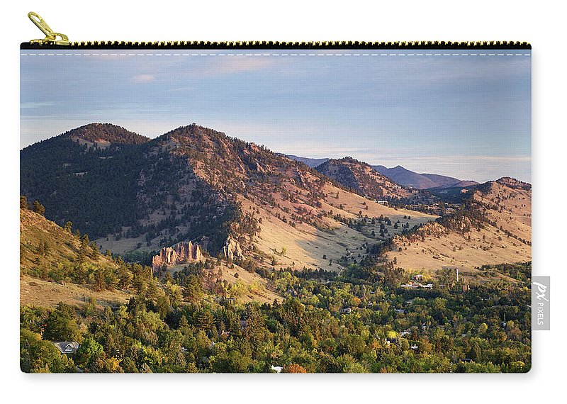 Scenics Carry-all Pouch featuring the photograph Mount Sanitas And Fall Colors In by Beklaus