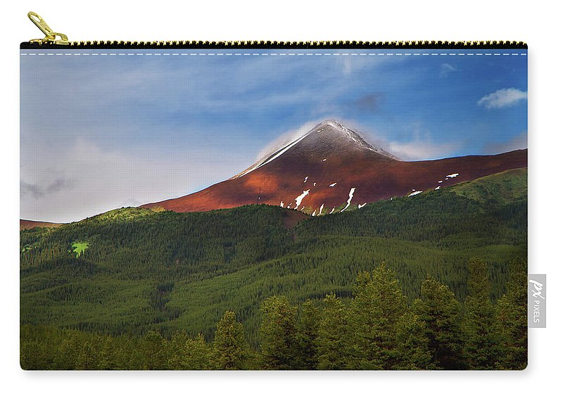 Scenics Carry-all Pouch featuring the photograph Mountain Peak - Jasper National Park by Adria Photography