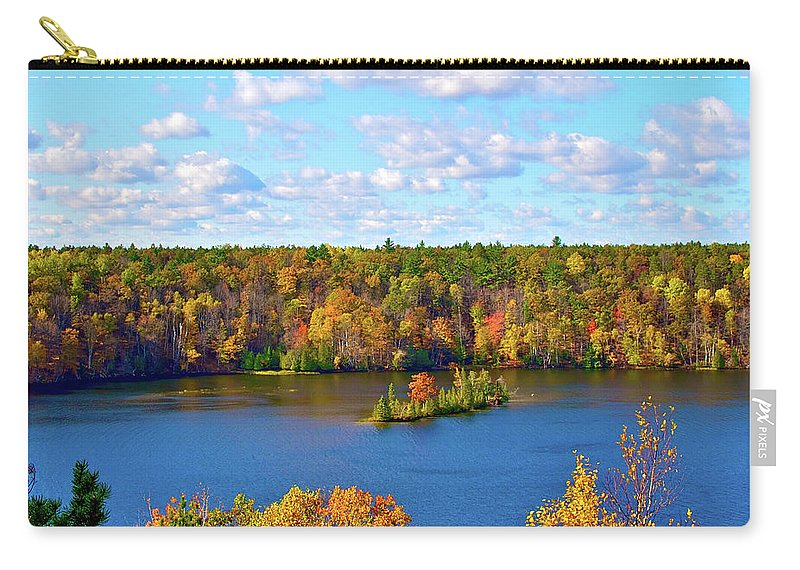 Scenics Carry-all Pouch featuring the photograph Mountain View Of Huron-manistee Forest by William Goldsmith