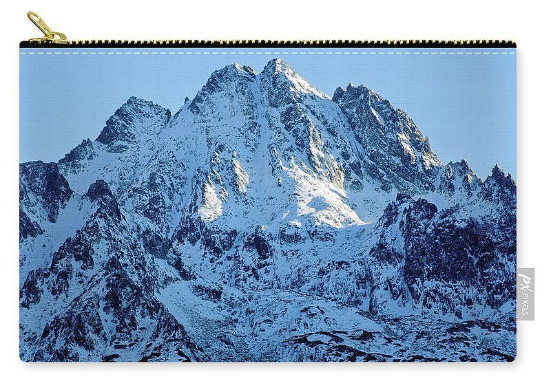 Scenics Carry-all Pouch featuring the photograph Mountain by Yorkfoto