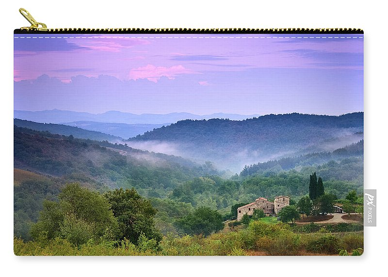 Scenics Carry-all Pouch featuring the photograph Mountains by Christian Wilt
