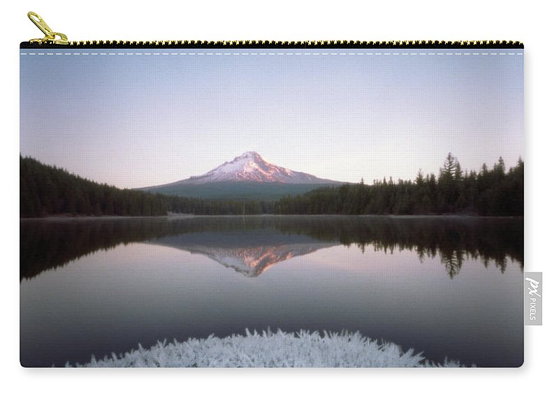 Scenics Carry-all Pouch featuring the photograph Mt. Hood Lit By Sunrise by Wendi Andrews