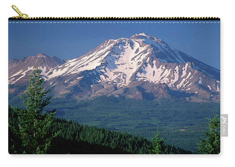Toughness Carry-all Pouch featuring the photograph Mt Shasta Across Lake Siskiyou, Mt by John Elk Iii
