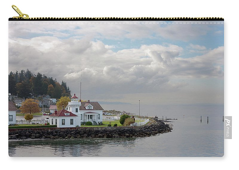 Water's Edge Carry-all Pouch featuring the photograph Mukilteo Lighthouse On Puget Sound by Stevedf