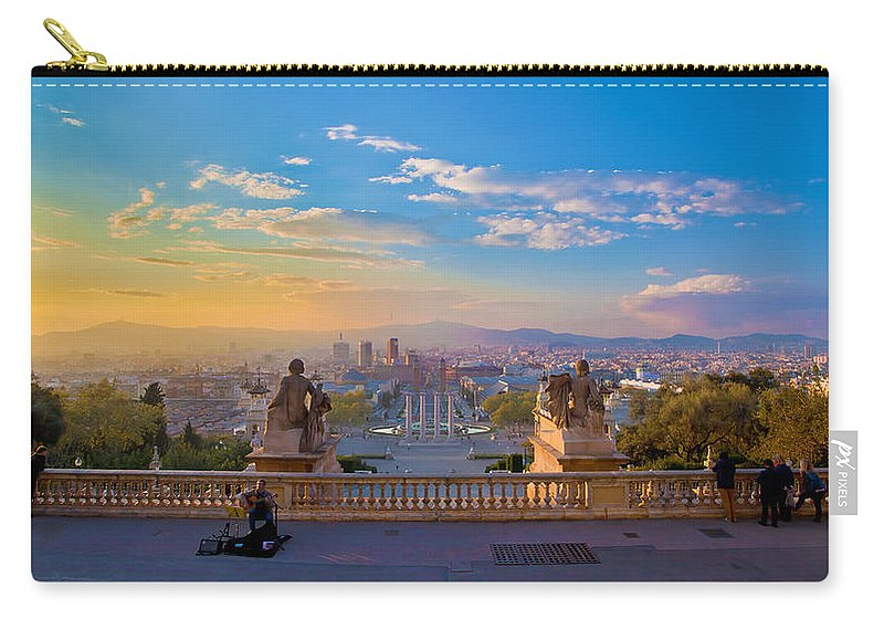 People Carry-all Pouch featuring the photograph Museu Nacional Dart De Catalunya by Albert Photo