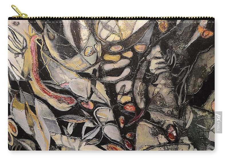 Abstract Carry-all Pouch featuring the painting My Emerald Garden by Patrick N Brown