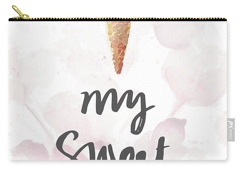 Sweet Carry-all Pouch featuring the mixed media My Sweet Love by Lanie Loreth