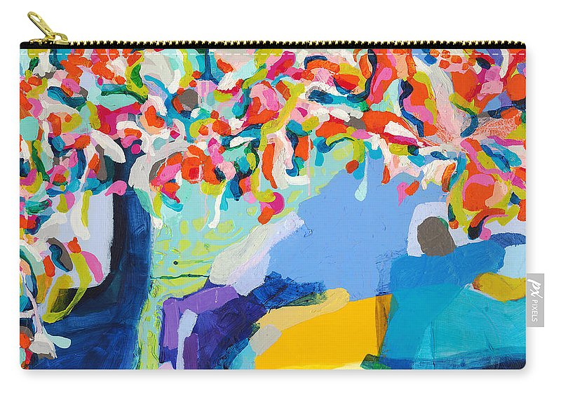 Abstract Carry-all Pouch featuring the painting My Vanity by Claire Desjardins