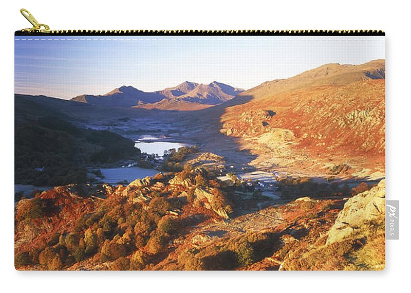 Scenics Carry-all Pouch featuring the photograph N. Wales, Snowdonia National Park by Peter Adams
