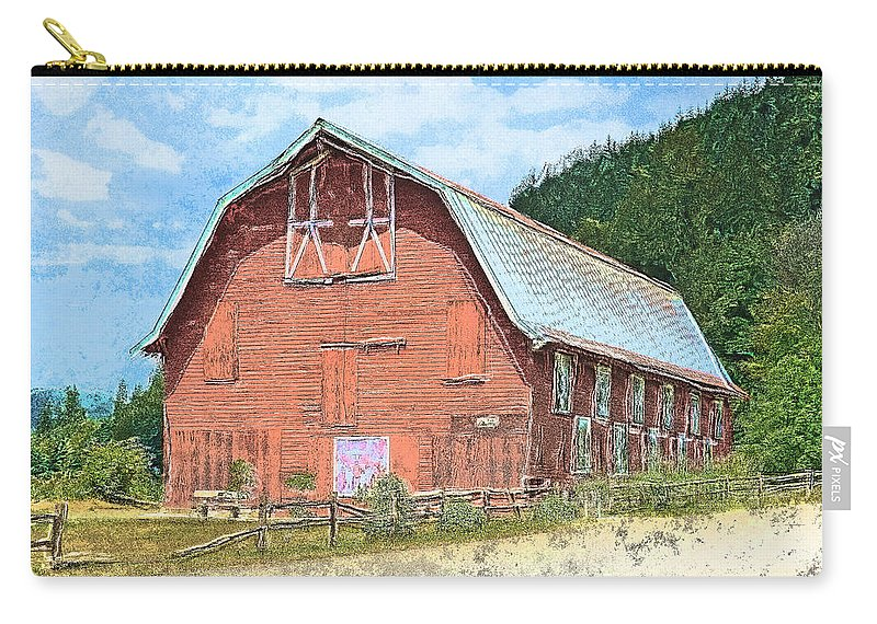 Tobeimean Peter Carry-all Pouch featuring the photograph Nakashima Barn by Tobeimean Peter