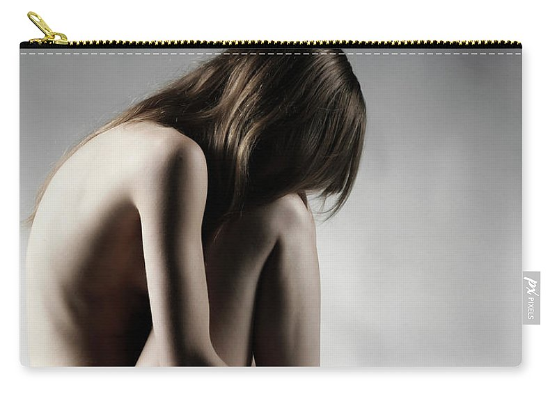 People Carry-all Pouch featuring the photograph Naked Woman by Buena Vista Images