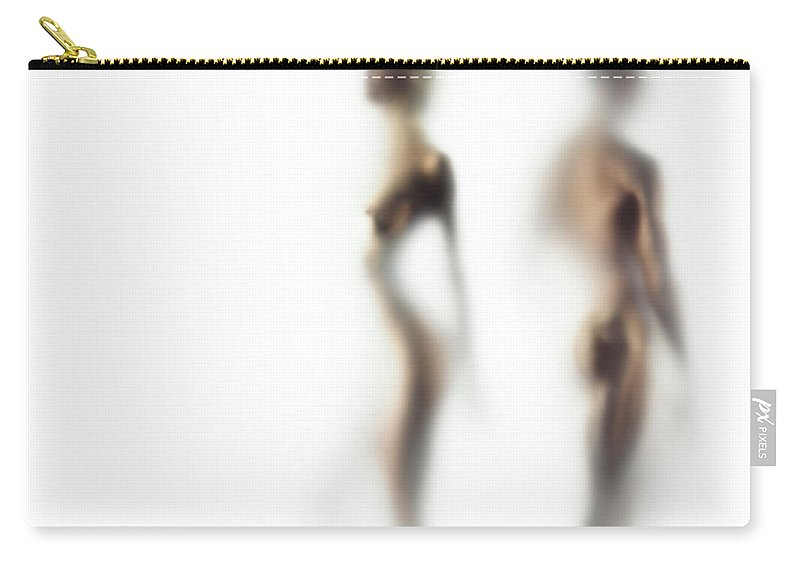 Young Men Carry-all Pouch featuring the photograph Naked Young Woman And Man Defocussed by Symphonie