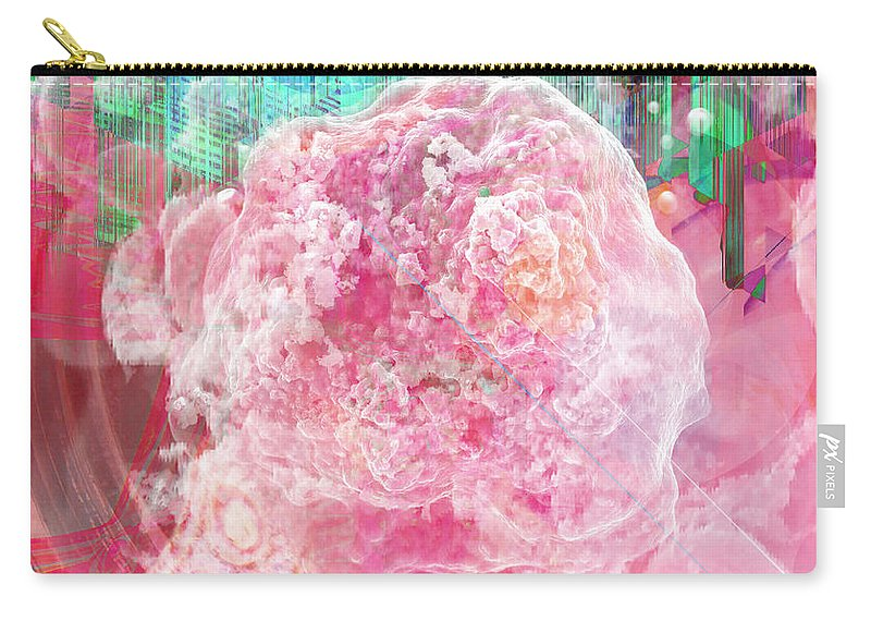 Nano Carry-all Pouch featuring the digital art Nano Flower Bud by David Derr