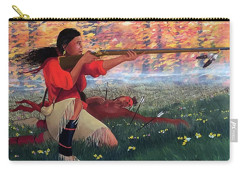 Nanyehi Carry-all Pouch featuring the painting Nanyehi At Taliwa by John Guthrie