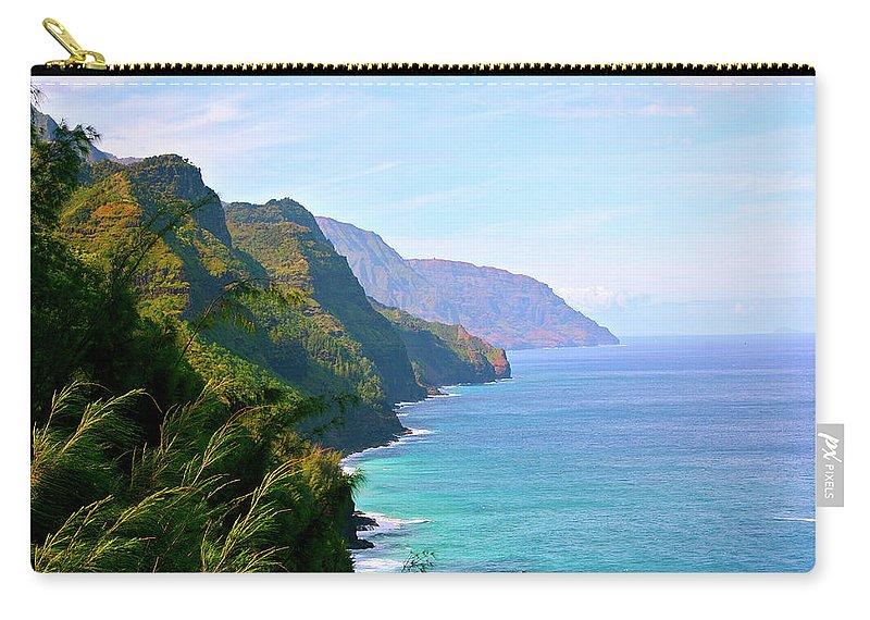 Nā Pali Coast State Park Carry-all Pouch featuring the photograph Napali by Sean M. Murphy Photography