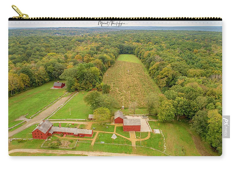 Nathan Hale Homestead Carry-all Pouch featuring the photograph Nathan Hale Homestead by Michael Hughes