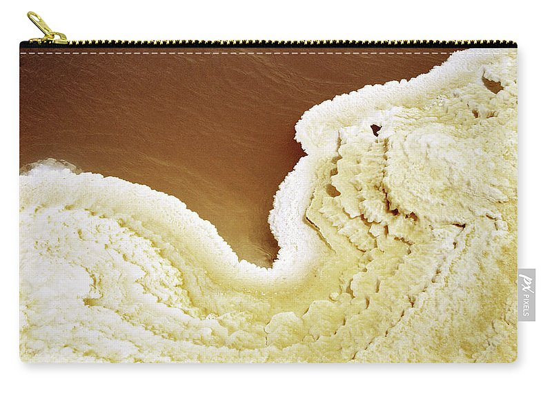 Mineral Carry-all Pouch featuring the photograph Natural Salt On A Salt Lake by Hans Neleman