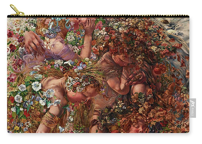 Abundance Carry-all Pouch featuring the painting Nature Or Abundan by Leon Henri Marie Frederic