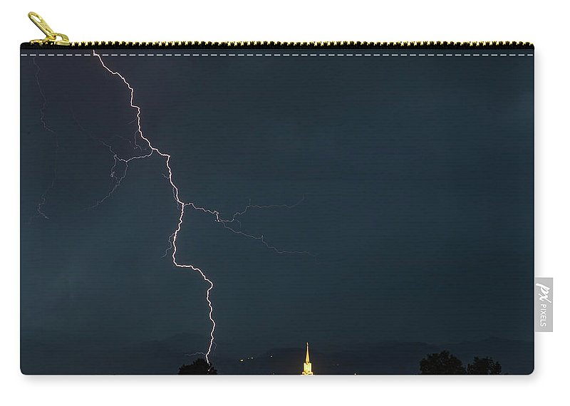 Lightning Carry-all Pouch featuring the photograph Near Miss by Three 20 Arts