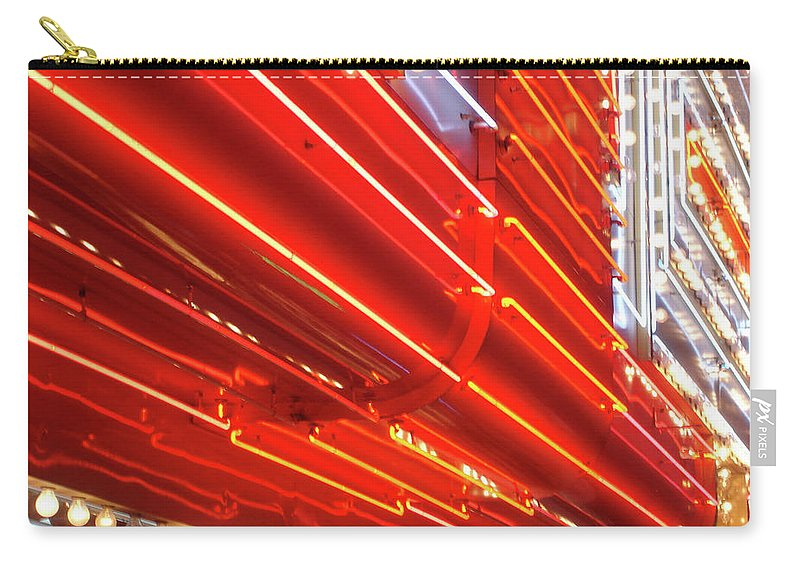 Downtown District Carry-all Pouch featuring the photograph Neon Lights Downtown Las Vegas by Jill Tindall